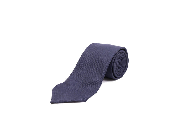 Wool and Silk Tie - Navy