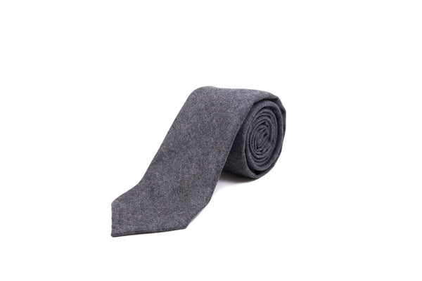 Flannel Tie - Charcoal