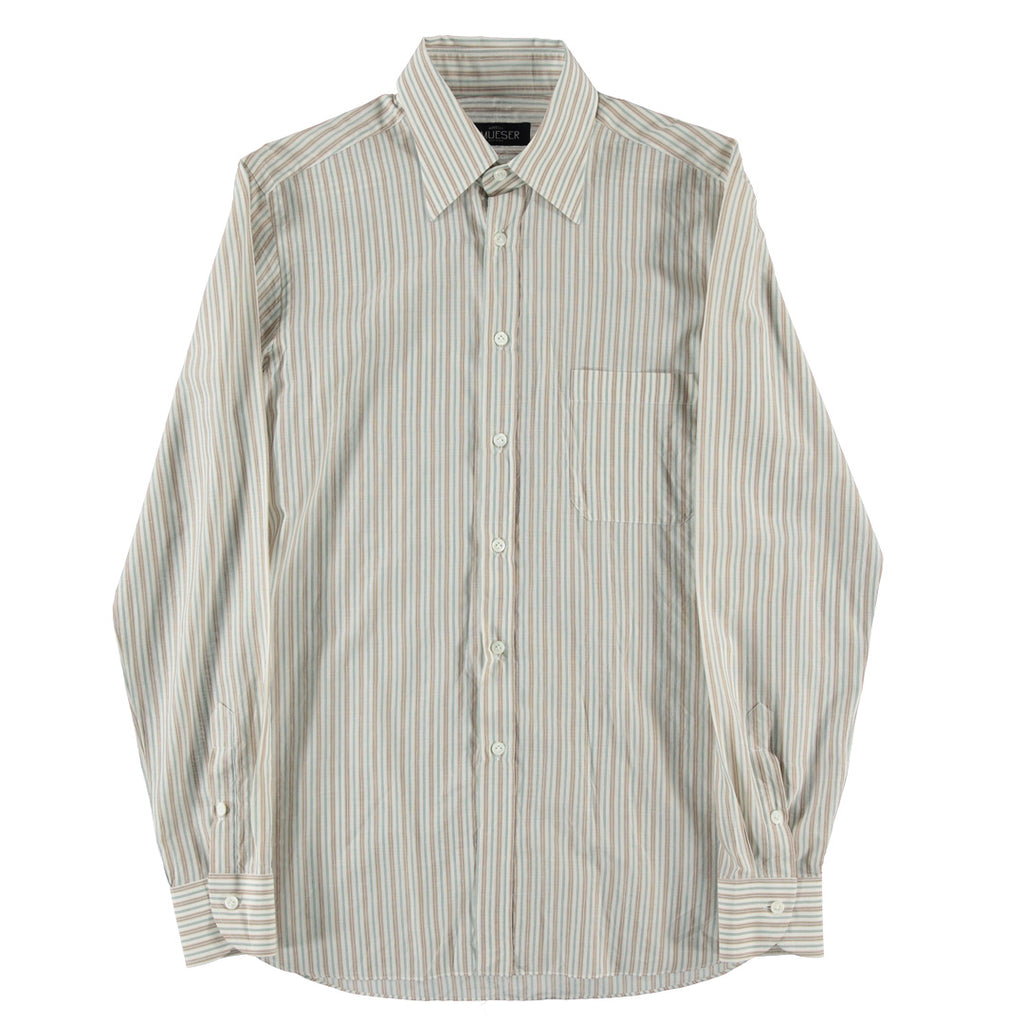 Cotton Multi-Stripe Brown Shirt