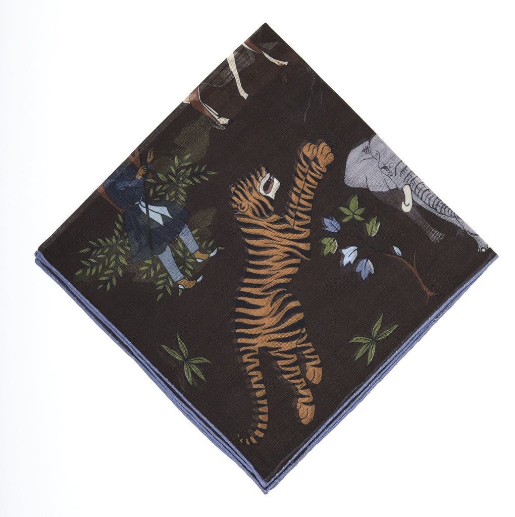 Pocket Square - Tiger Print