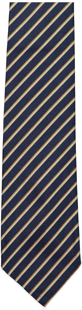 Blue and Gold Stripe Repp Tie