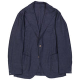 Navy Glen Check Wool/Cashmere Campania Jacket