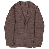 Brown Glen Check Tweed Campania Jacket