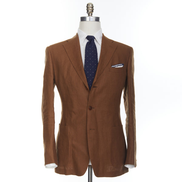 Tobacco Brown Linen Campania Jacket