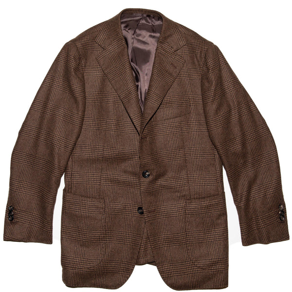 Brown Glen Check Cashmere Campania Jacket