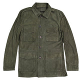 Olive Lightweight Suede Field Jacket