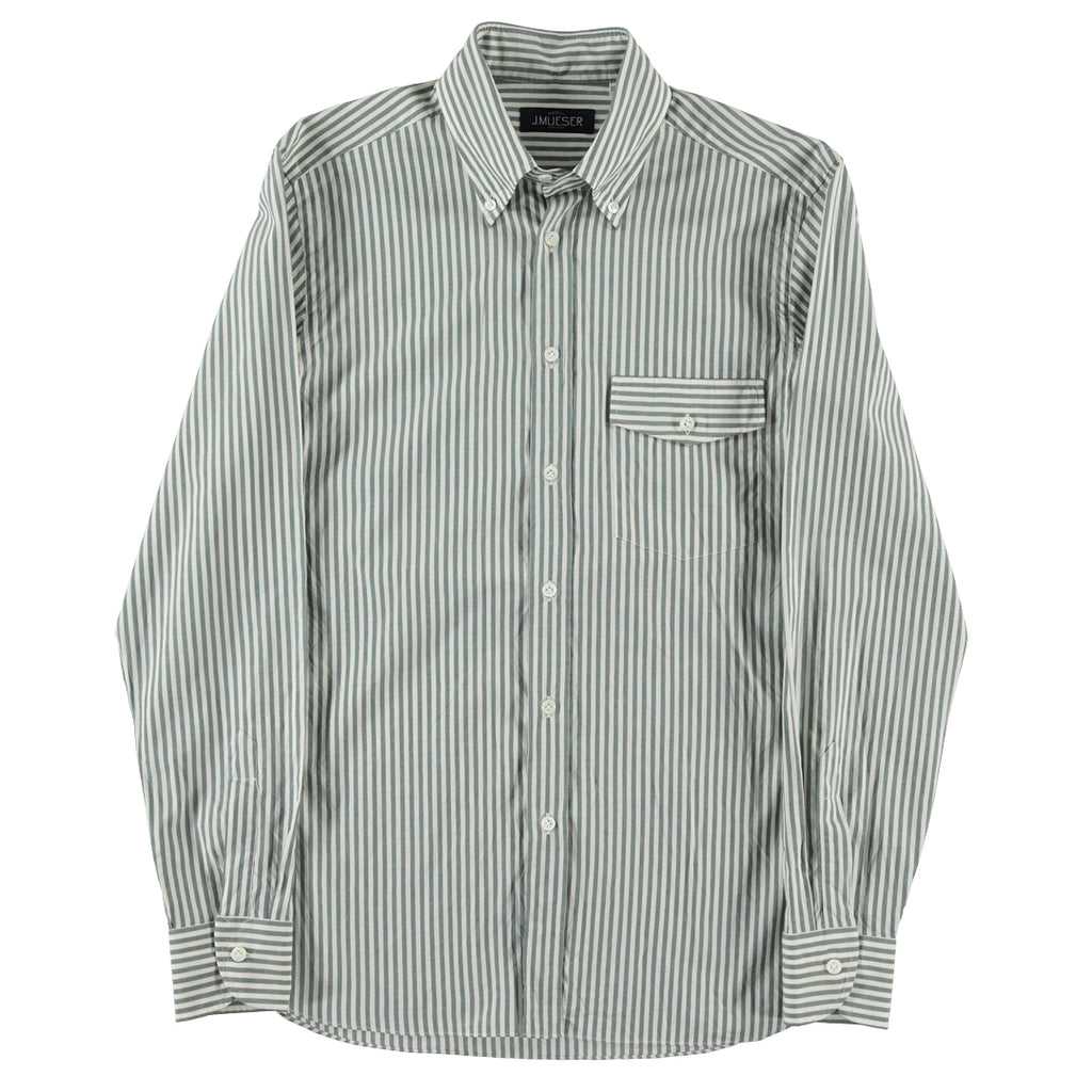Green Candy Stripe Shirt
