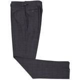 Charcoal Windowpane Worsted Wool Suit