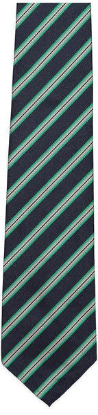 Navy and Green Stripe Repp Tie