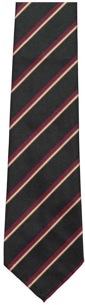 Black and Red Stripe Repp Tie