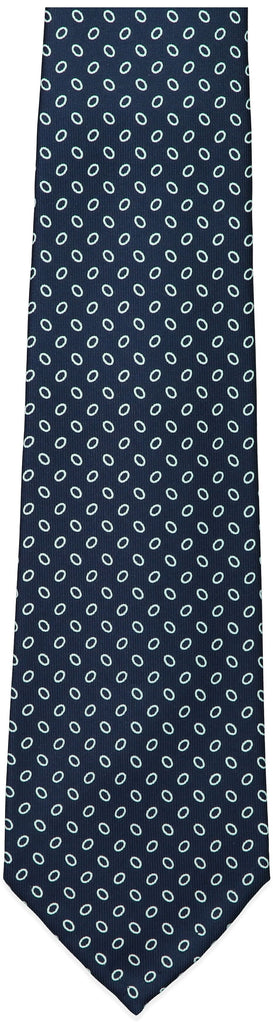 Blue Small Oval Print Tie