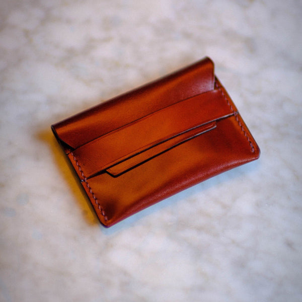 Made-to-Order Japanese Cordovan Envelope Style Card Case