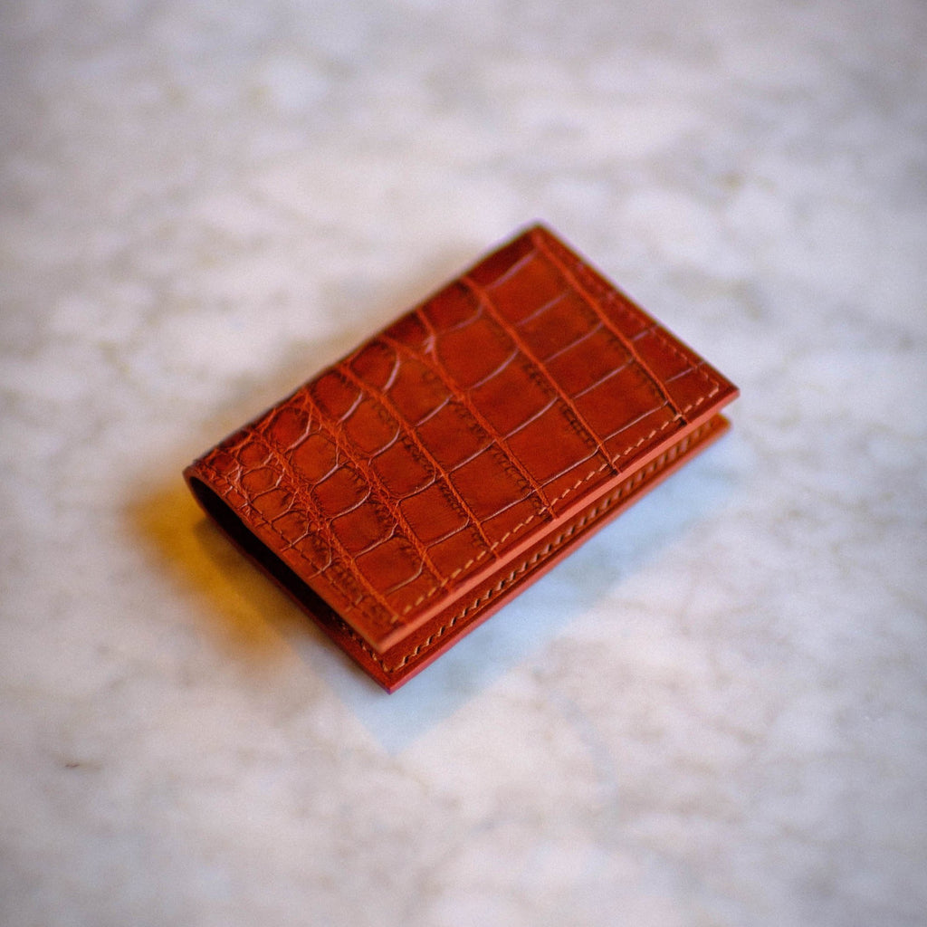 Made-to-Order Alligator Folding Card Case