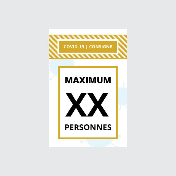 "Affiche ""Maximum XX personnes"""