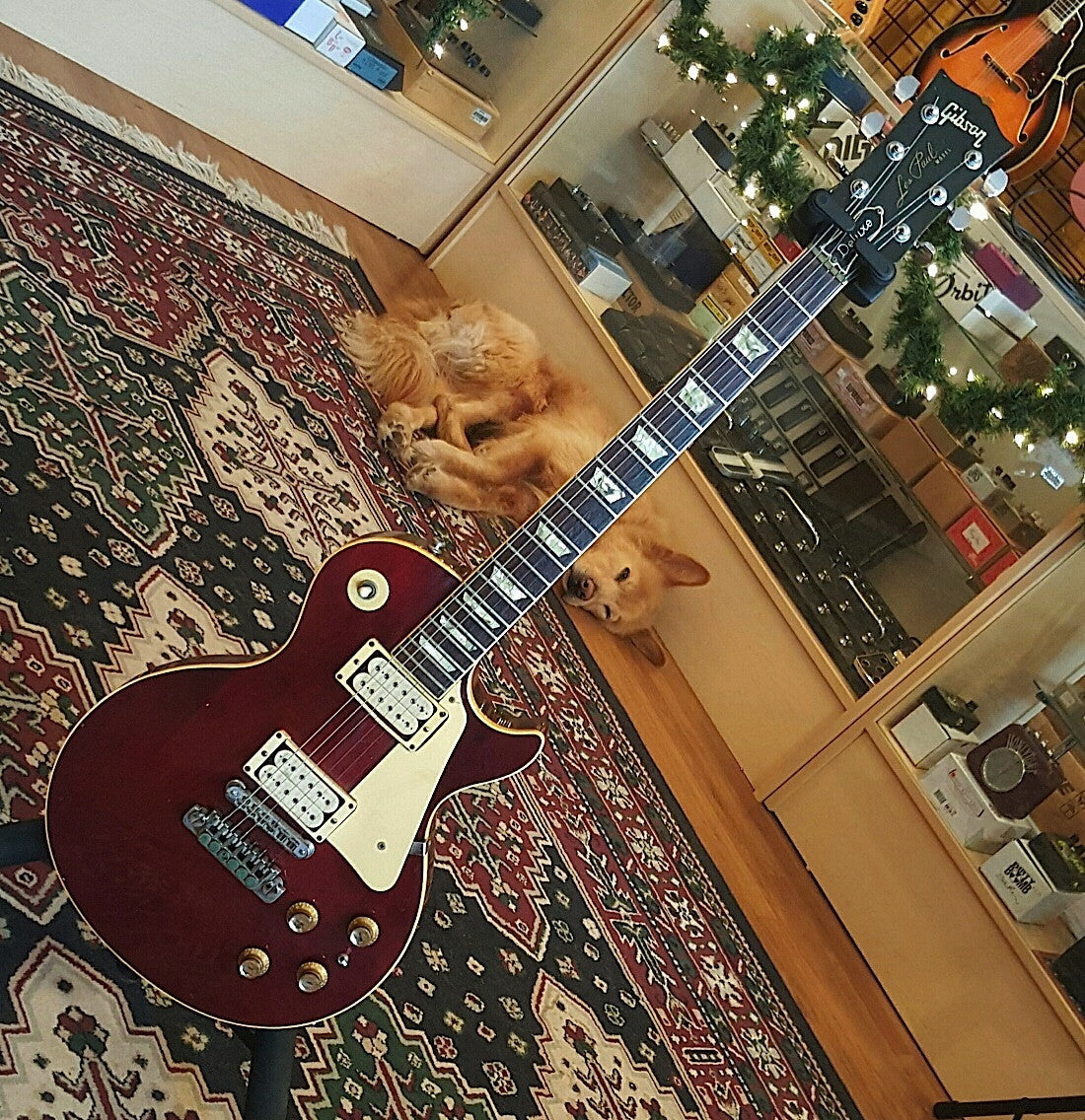1977 Gibson Les Paul Deluxe Wine Red
