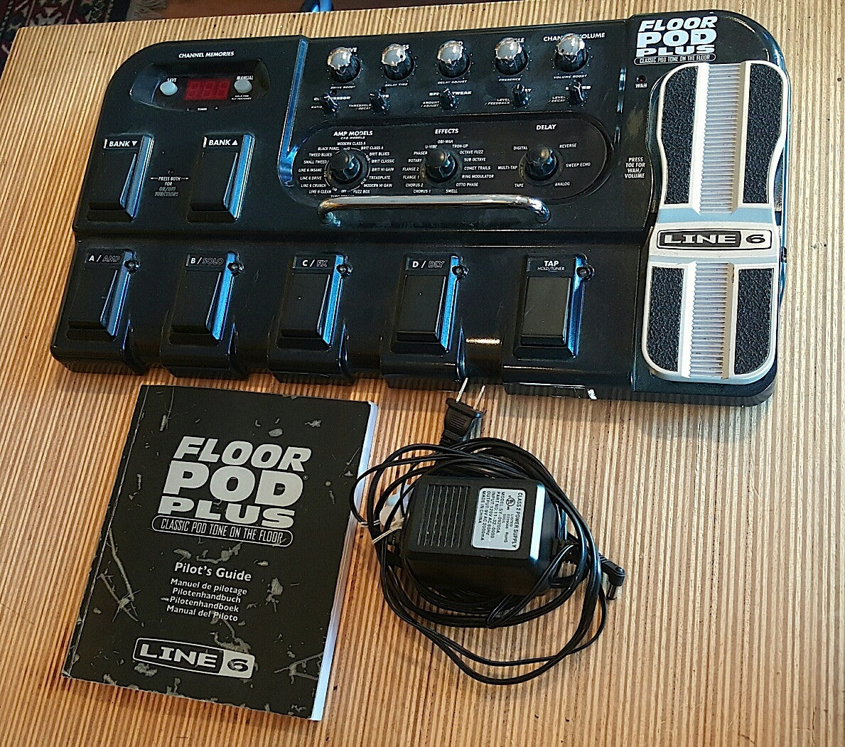 Pre Owned Line 6 Floor Pod Plus W/Manual