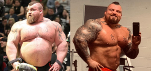 [VIDEO] Eddie Hall boxes his way to a new body for next 'mission'