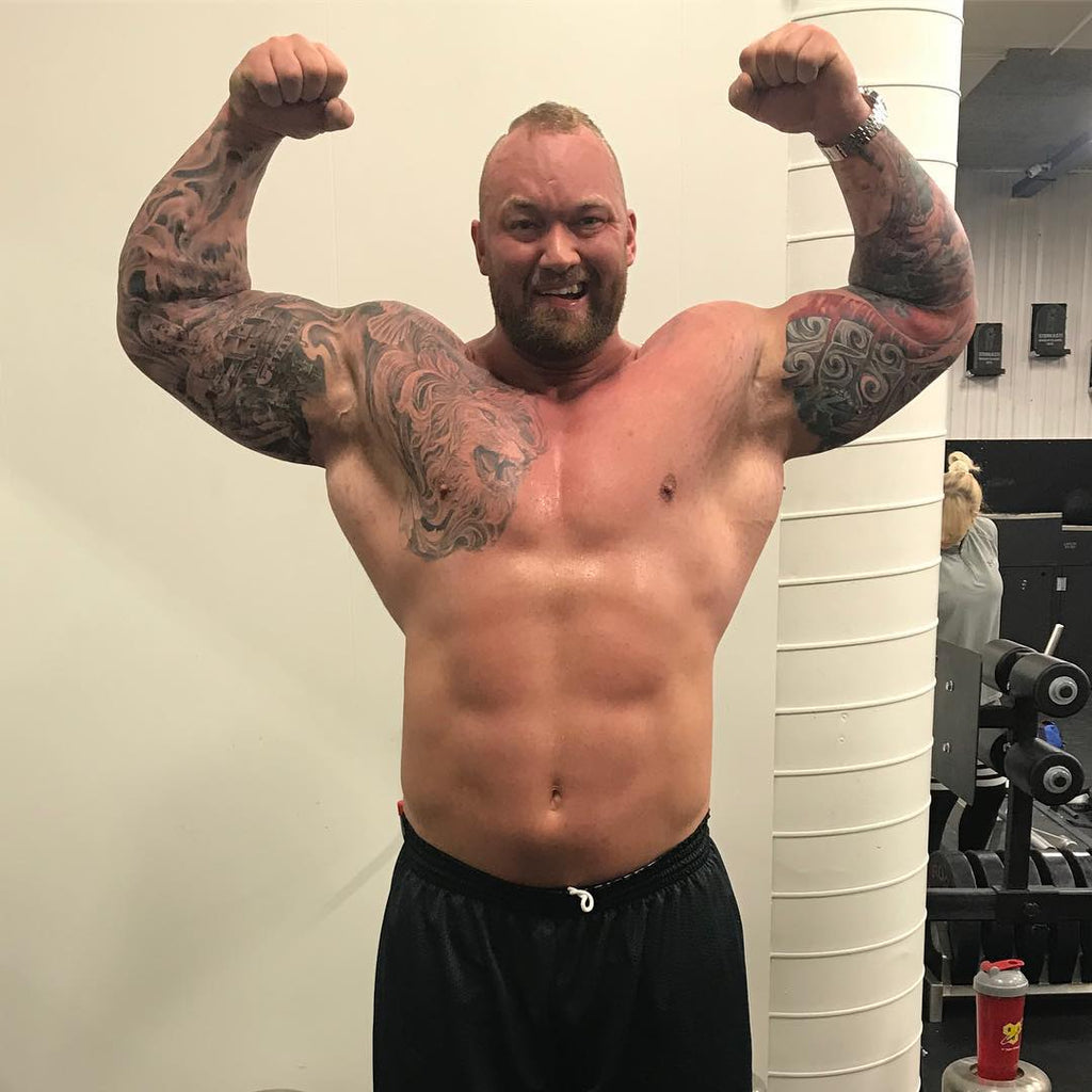 [VIDEO] The Mountain -- Thor Bjornsson benches 245kg two weeks out from powerlifting meet