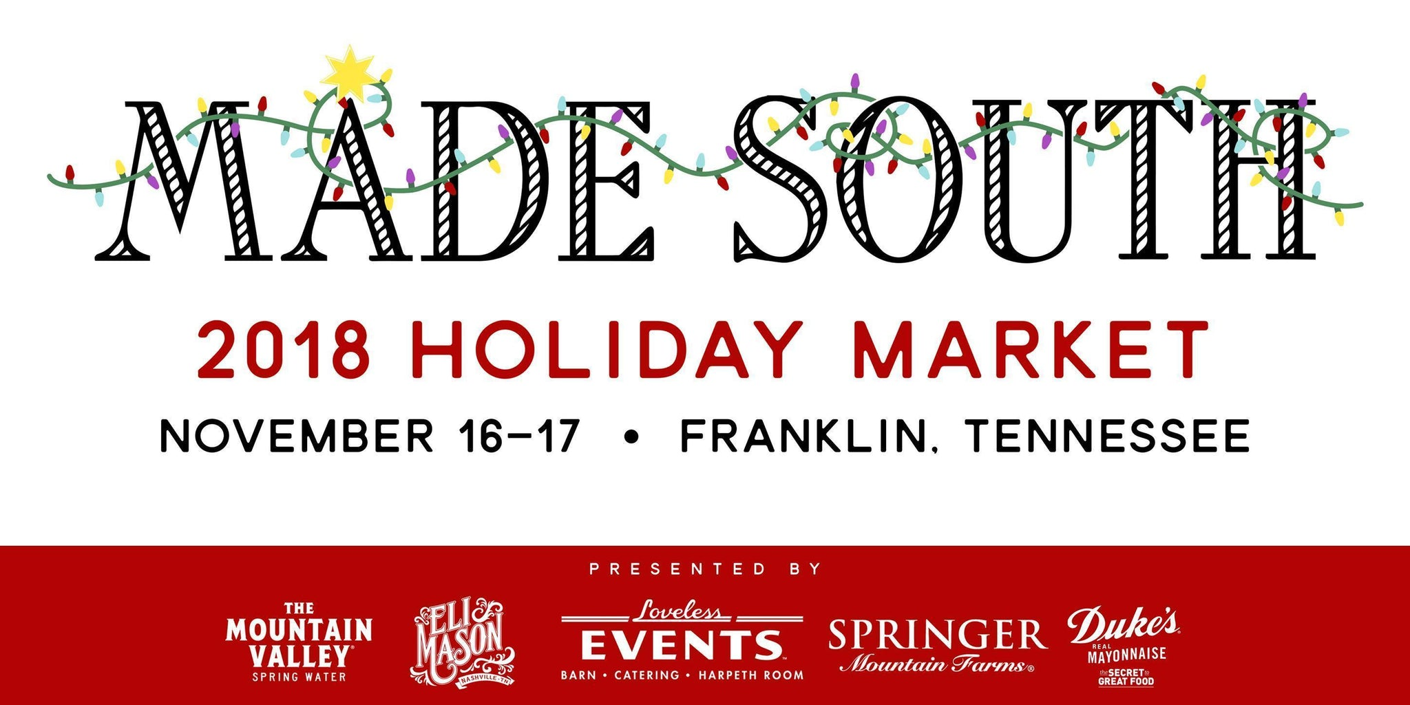 Made South Holiday Market 2018
