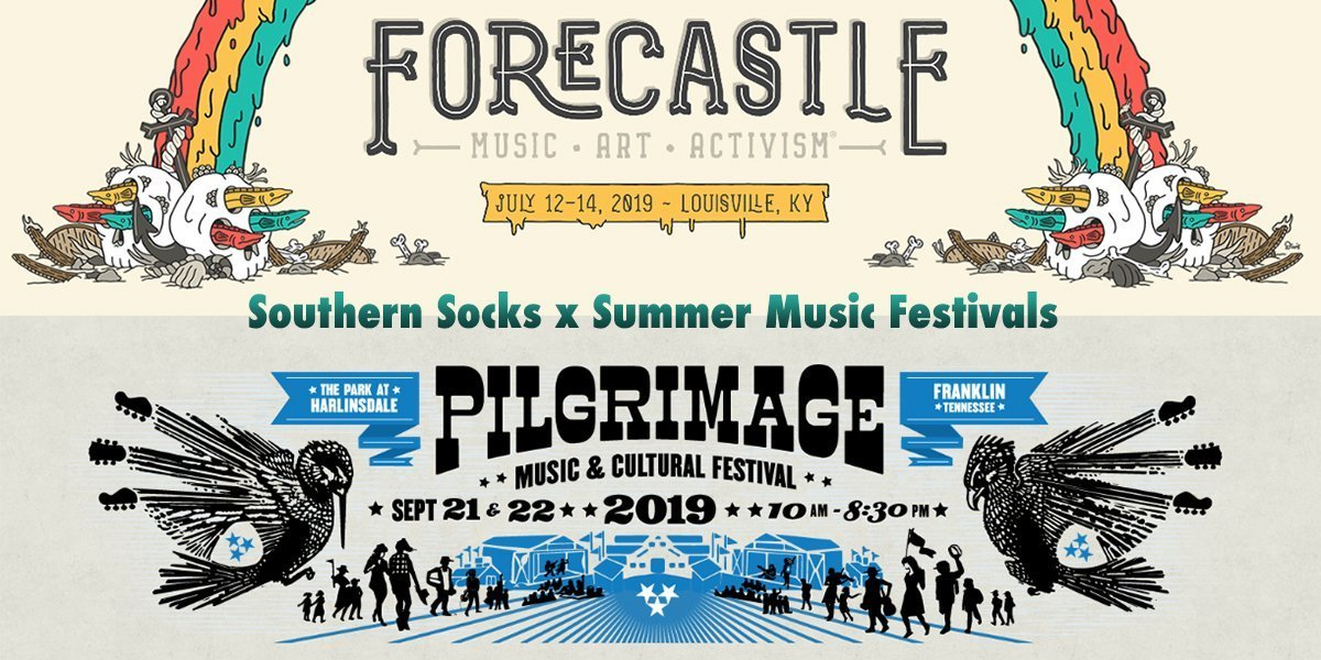 Southern Socks at Forecastle and Pilgrimage Music Festivals!