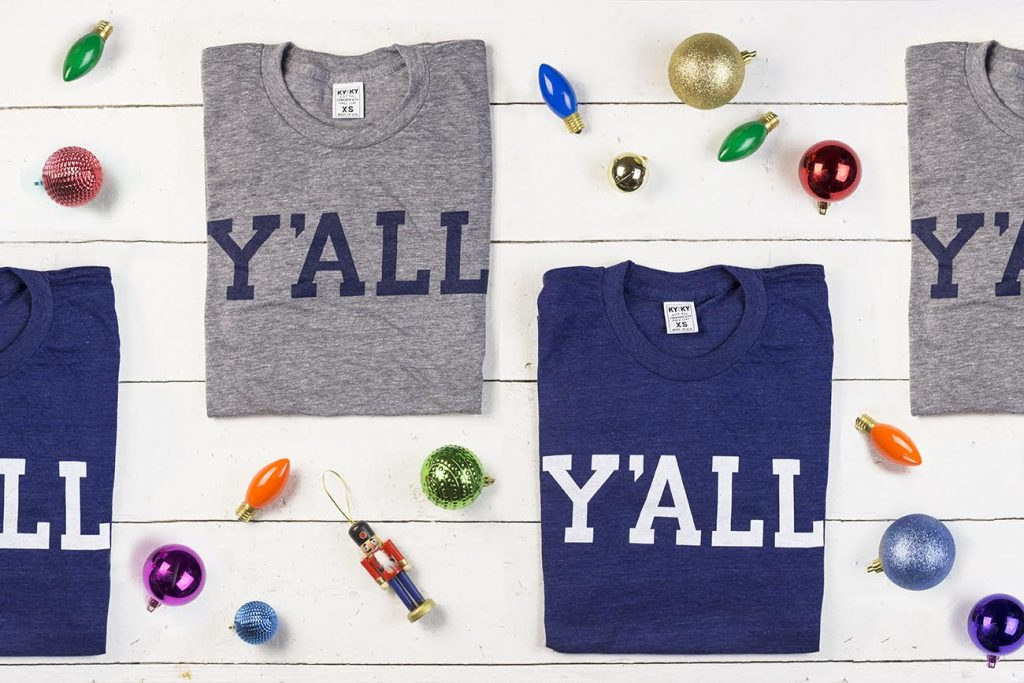 Y'ALL Tees for the holidays