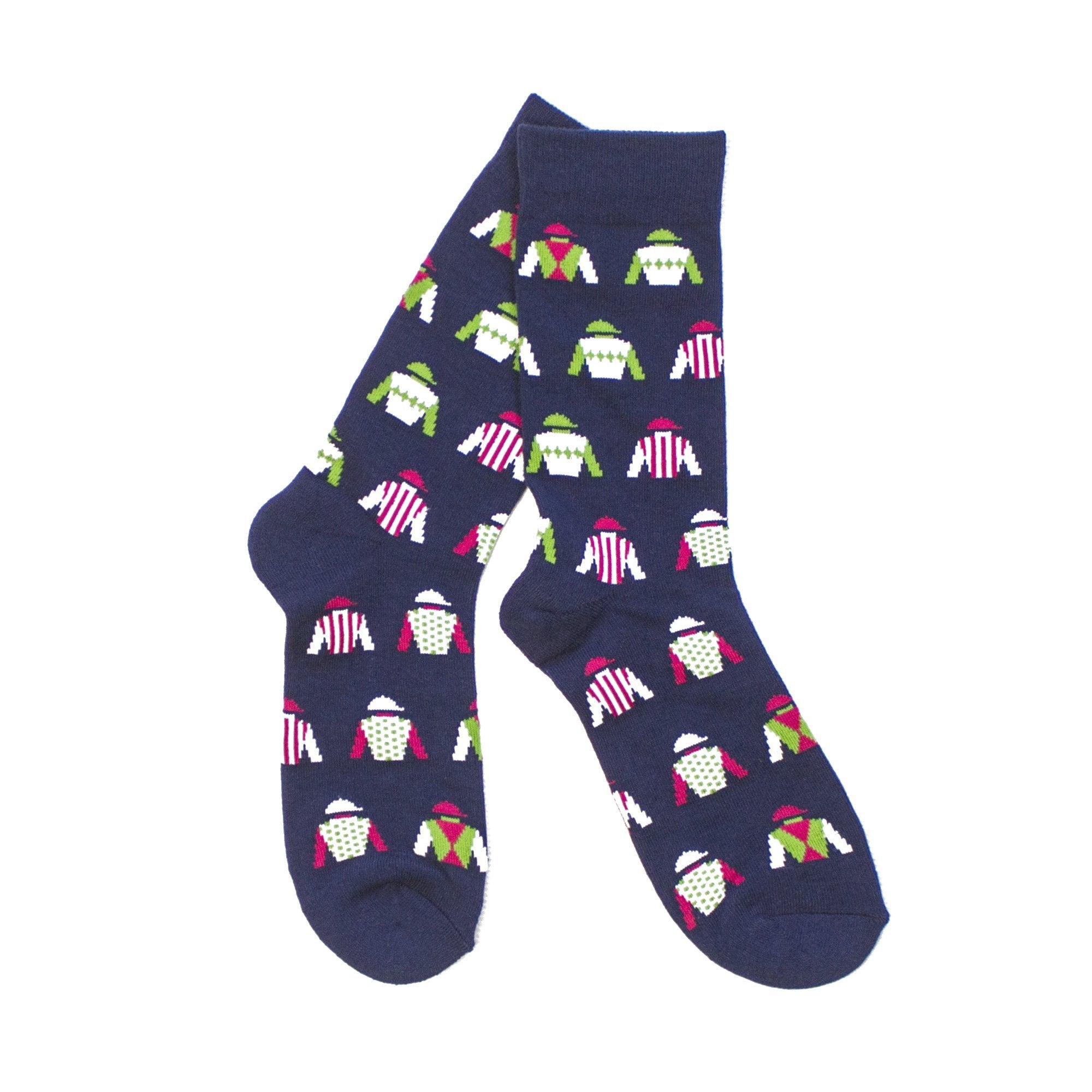 Jockey Silk Socks (Navy)-socks-Southern Socks