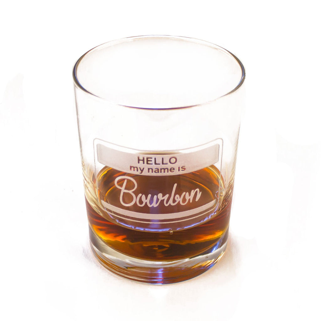 Hello, My Name Is Bourbon Glass-Southern Socks