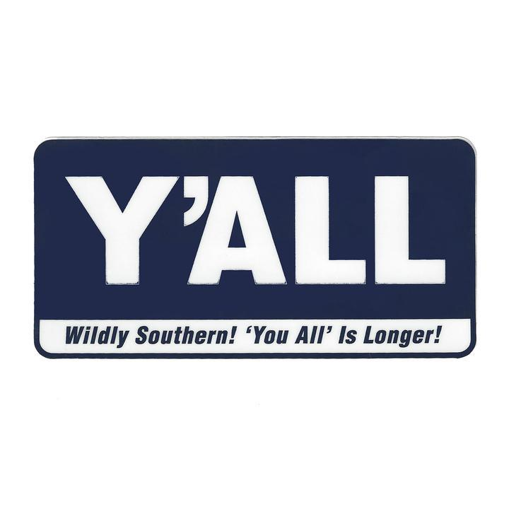 Y'ALL Cooler Sticker-Southern Socks