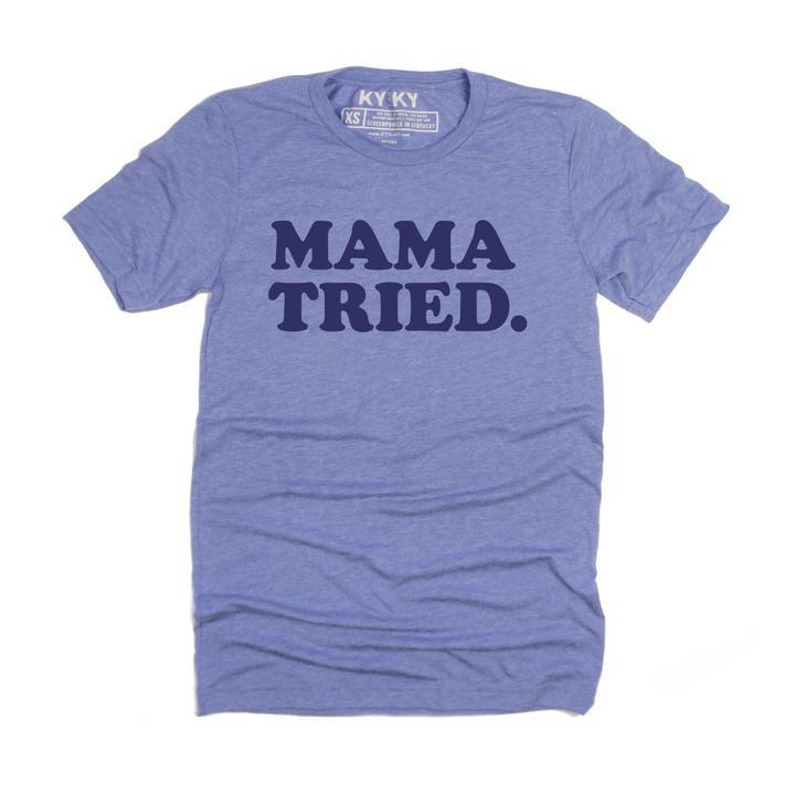 MAMA TRIED. T-Shirt (Light Blue)-T-Shirt-Southern Socks
