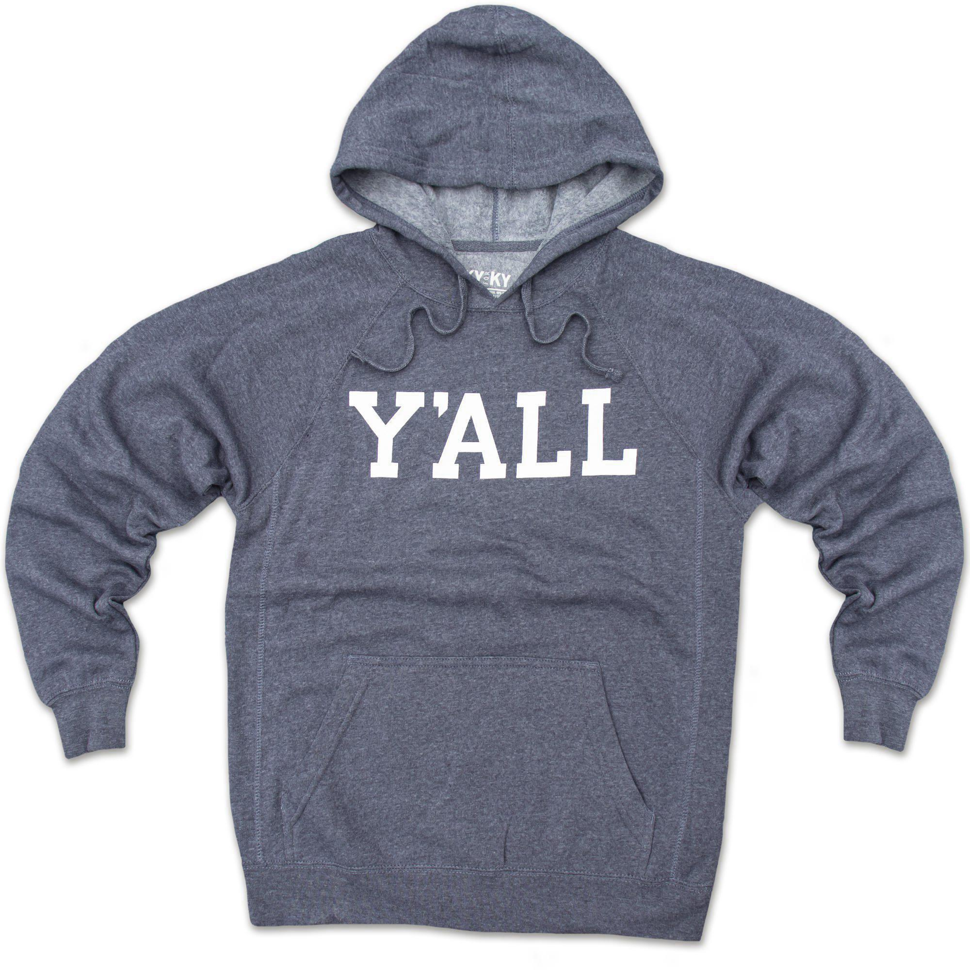 Y'ALL Hoodie (Navy)-Sweatshirt-Southern Socks