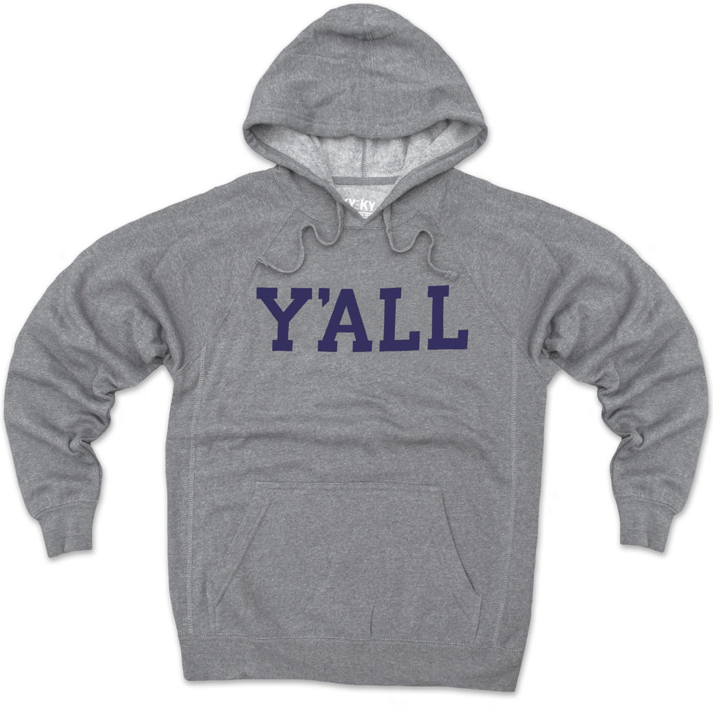Y'ALL Hoodie (Grey)-Sweatshirt-Southern Socks