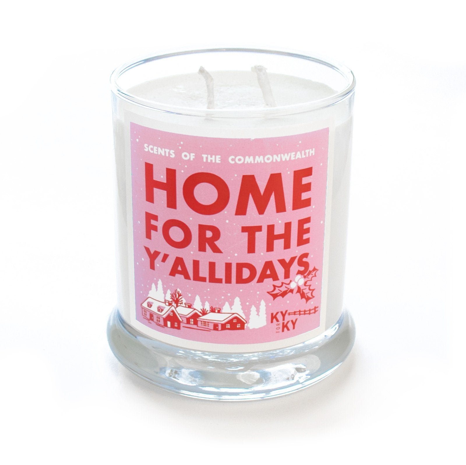 Home For The Y'allidays Scented Candle-Misc-Southern Socks