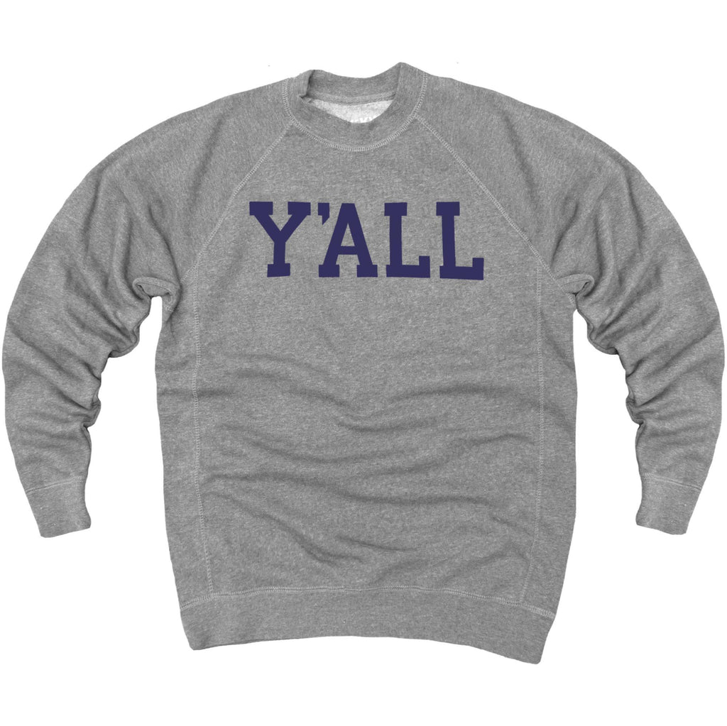 Y'ALL Sweatshirt (Grey)-Sweatshirt-Southern Socks