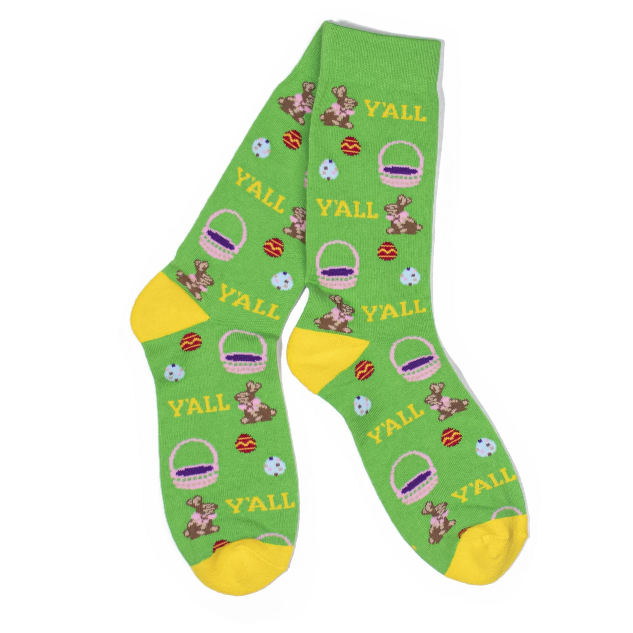 Easter Y'all Socks-Southern Socks