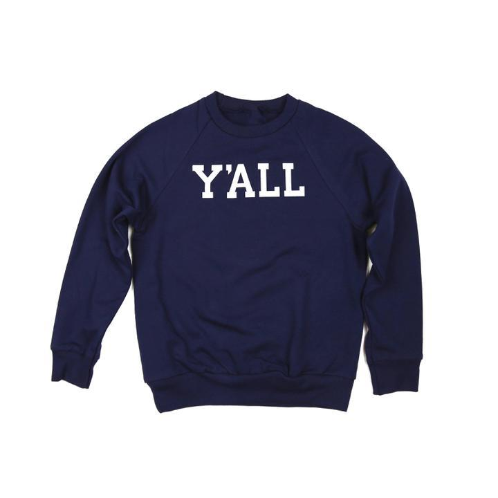 Y'ALL Kids Sweatshirt (Navy)-Southern Socks