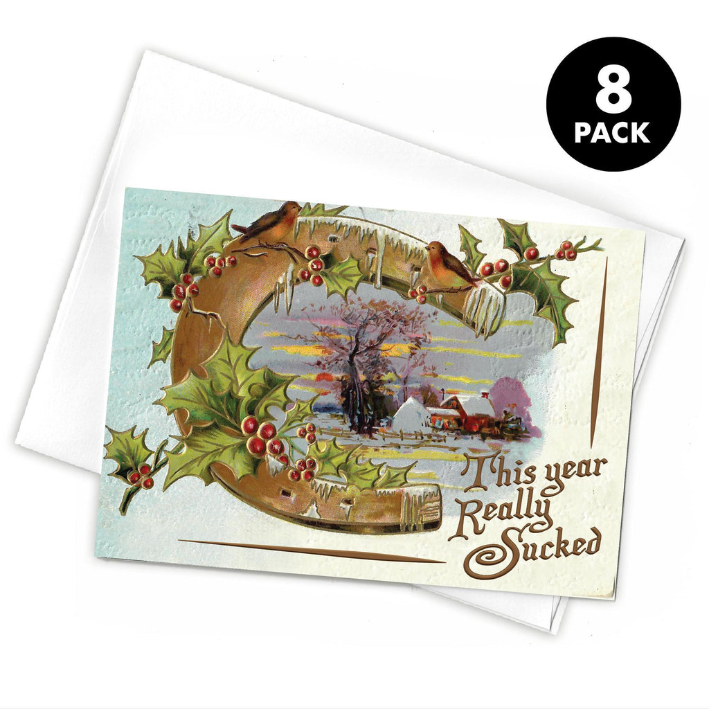This Year Really Sucked Greeting Card (Pack of 8)-Southern Socks
