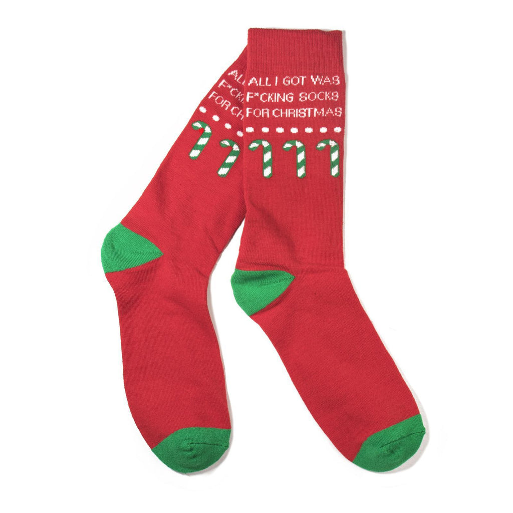 All I Got Was F*cking Socks for Christmas Socks-socks-Southern Socks