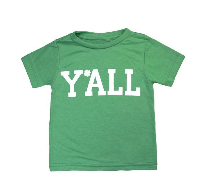 Y'ALL Clover Kids Tee-Southern Socks
