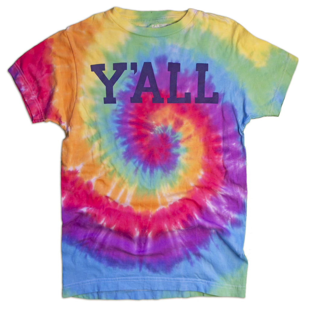 Tie-Dye Y'ALL T-Shirt-T-Shirt-Southern Socks