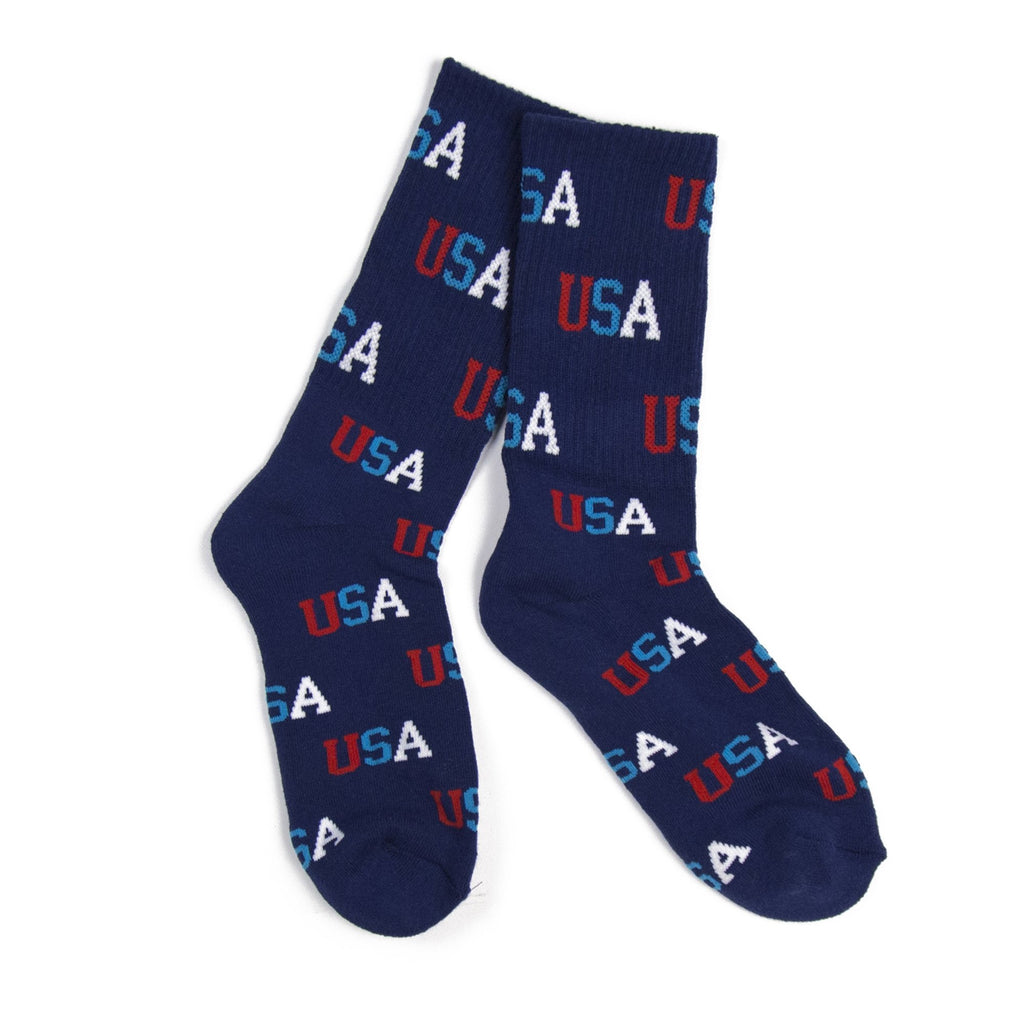 USA Socks (Navy)-socks-Southern Socks