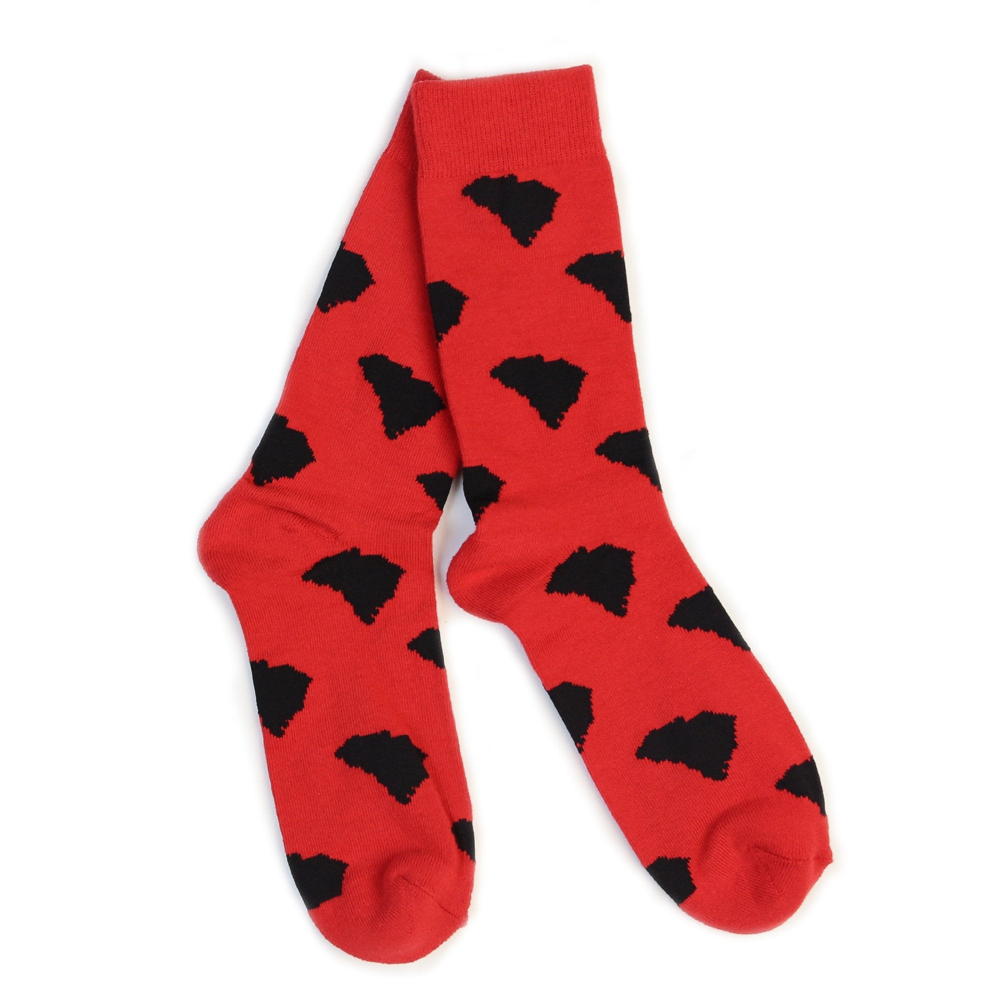 SC Shape Socks (Red)-socks-Southern Socks