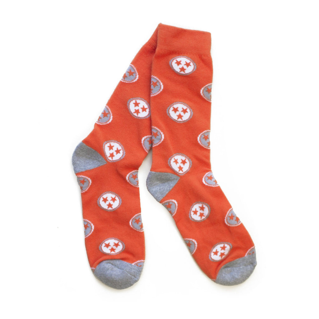 TN Flag Socks (Orange)-socks-Southern Socks