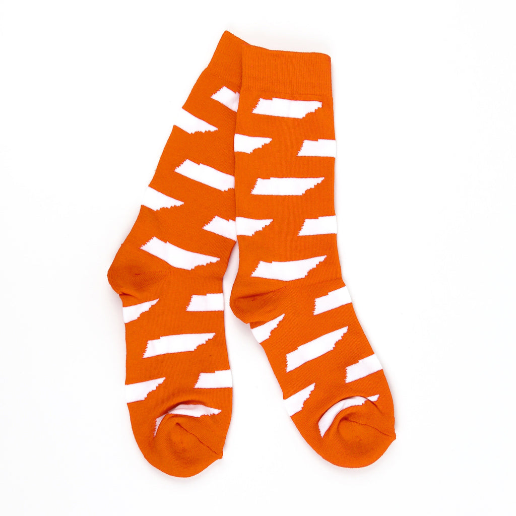 TN Shape Socks (Orange)-socks-Southern Socks