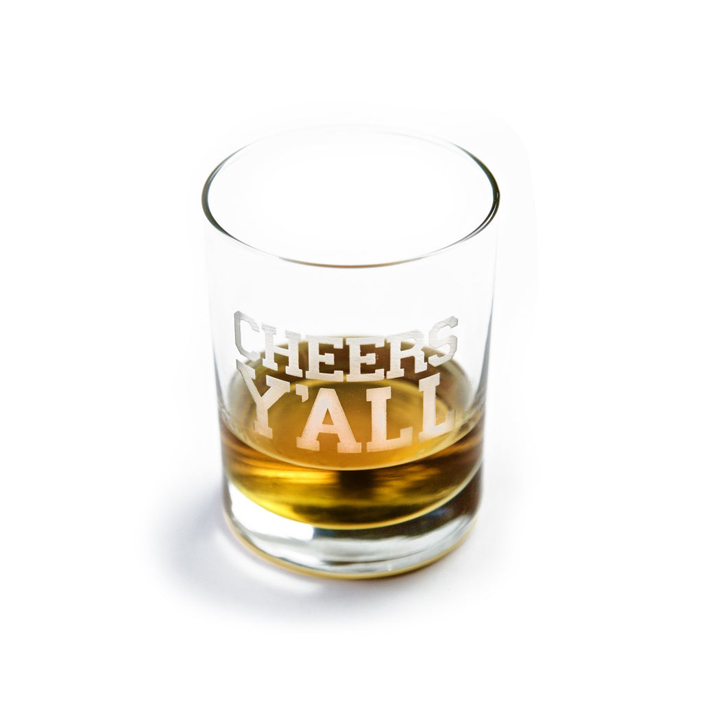 Cheers Y'ALL Bourbon Glass-Southern Socks