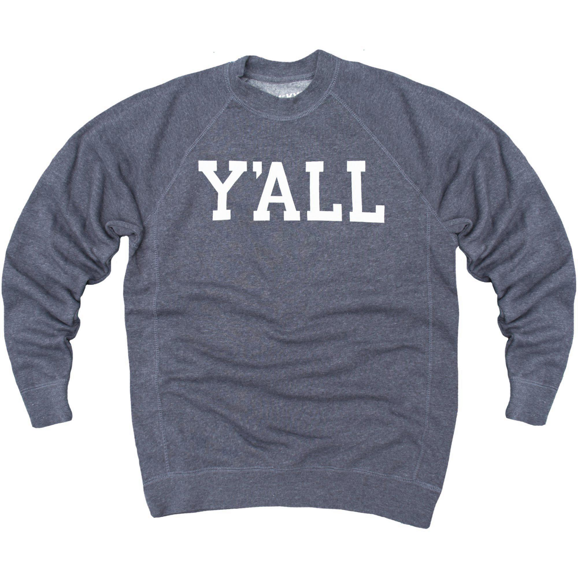 Y'ALL Sweatshirt (Navy)-Sweatshirt-Southern Socks