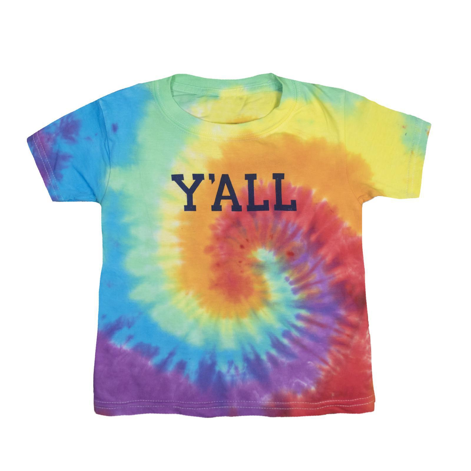 Tie-Dye Y'ALL Kids T-Shirt-T-Shirt-Southern Socks