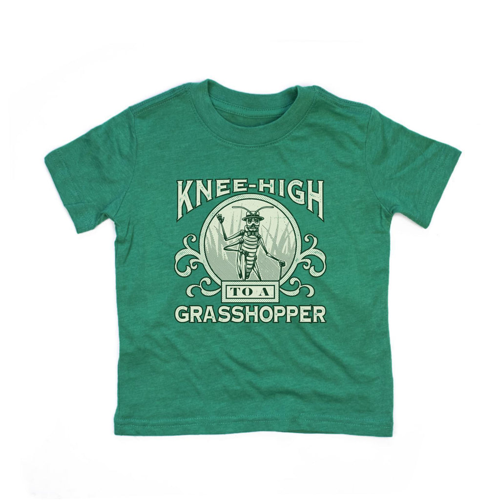 Knee High To A Grasshopper Kids T-Shirt-T-Shirt-Southern Socks