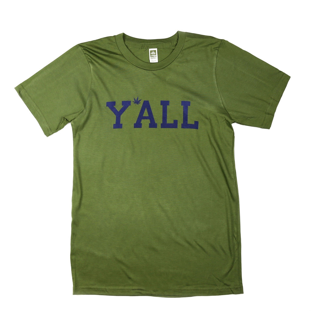 Hemp Y'ALL T-Shirt (Green)-Southern Socks