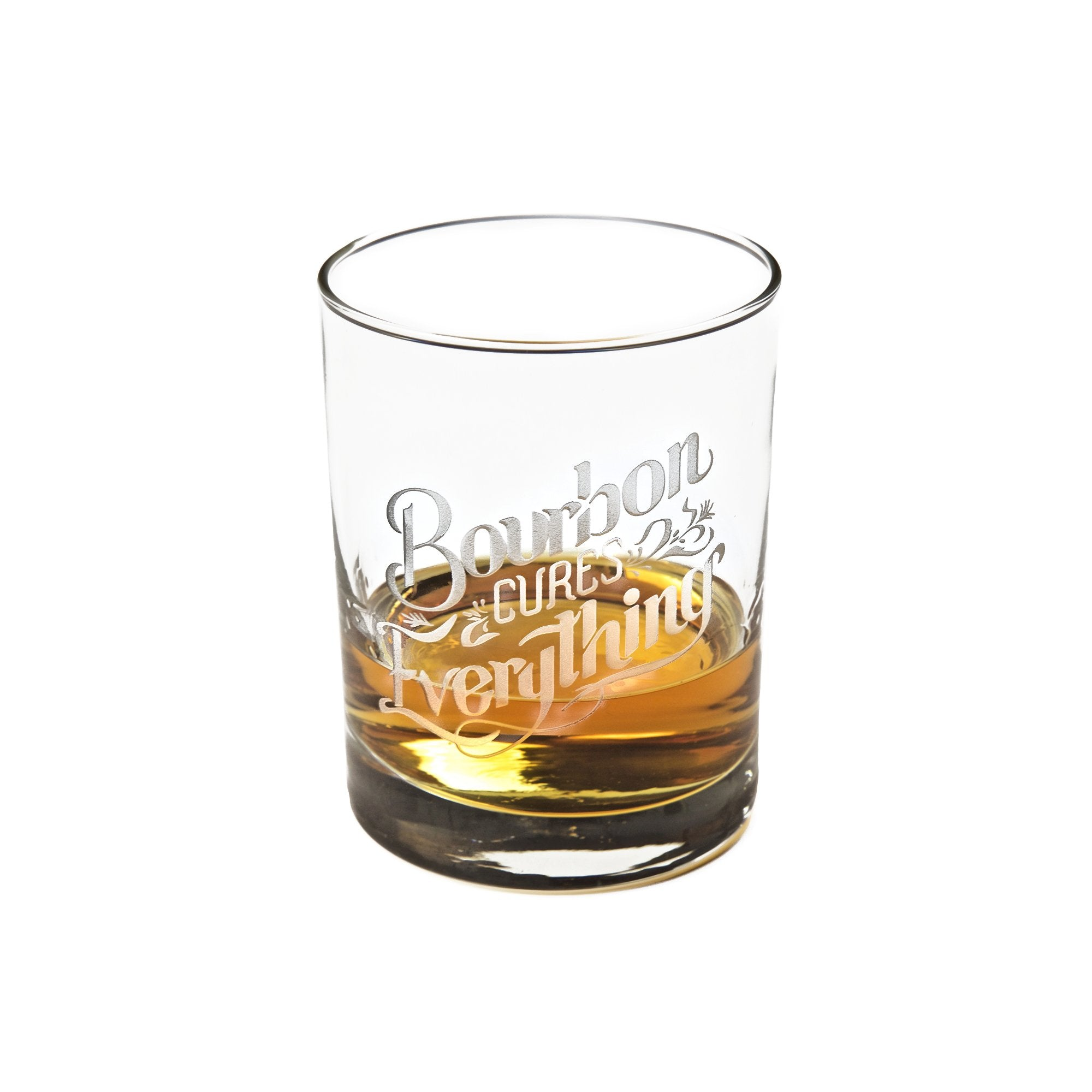 Bourbon Cures Everything Bourbon Glass-Southern Socks