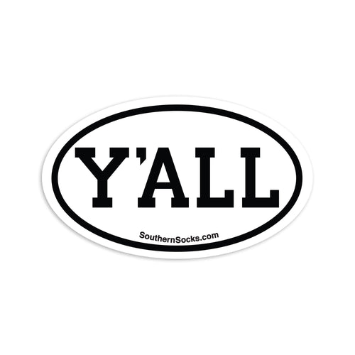 Y'ALL Staycation Sticker-Misc-Southern Socks
